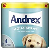 Andrex Aqua Spray Toilet Tissue 4 Rolls (Pack of 10)