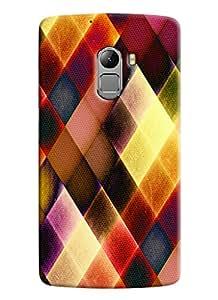 Blue Throat Colored Burfi Effect Printed Designer Back Cover/ Case For Lenovo K4 Note