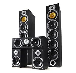 Beng V9B Home Theatre Speaker Set (5 Channel, 1240W MAX & Bass Reflex Design) - Black