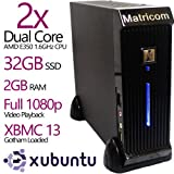 MatricomⓇ G-Box Sigma E350 AMD Dual Core XBMC Linux HTPC TV Box (2GB RAM, 32GB SSD, Ubuntu, Full 1080p Output)