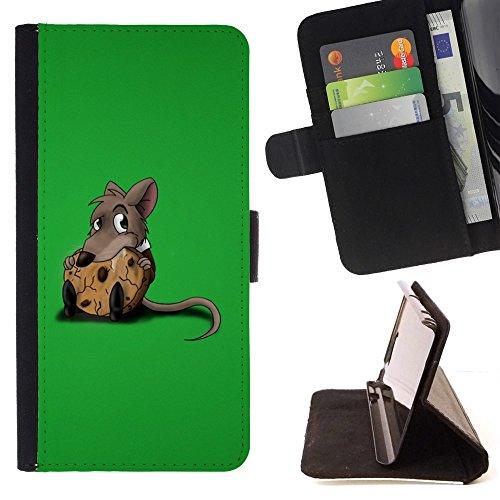 momo-phone-case-flip-funda-de-cuero-case-cover-rata-roedor-gris-de-la-historieta-animacion-cute-food