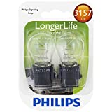 Philips 3157LLB2 3157 Longer Life Miniature Bulb, 2 Pack
