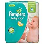 Pampers Baby Dry Nappies, Size 4+ (To...