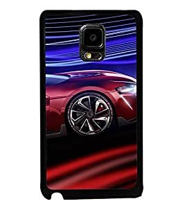Fuson Premium 2D Back Case Cover Stylish car With yellow Background Degined For Samsung Galaxy Note Edge::Samsung Galaxy Note Edge N915