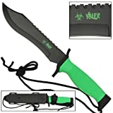 WICKED!! Zombie Killer Mean Green Fixed Blade Knife