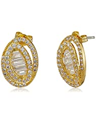 Shaze Stud Earring For Women (Golden ) (4261-23)