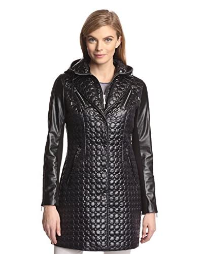 Dawn Levy Women's Sly Infinity Quilted Jacket with Contrast Sleeves