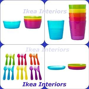 Ikea kalas posate di plastica per bambini set 36 pezzi 6 - Piatti plastica ikea ...