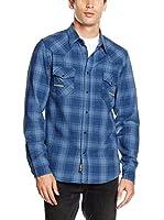 ZZ_Meltin Pot Camisa Hombre (Azul Marino)