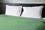 Ebydesign Geometric Duvet Cover, Queen, Leaf