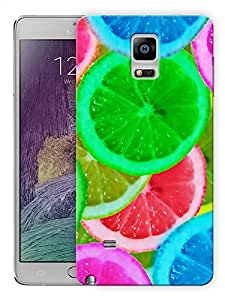 "Humor Gang Multicolor Fruit Slices Printed Designer Mobile Back Cover For ""Samsung Galaxy Note 4"" (3D, Matte, Premium Quality Snap On Case)"