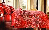 WRAP 100% COTTON DOUBLE BED DUVET SET (1 BEDSHEET 2 PILLOW COVERS & 1 DUVET COVER) CNSD-13