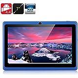 E-Ceros Create 2 Tablet PC - 7 Inch Screen, Allwinner A33 Quad Core CPU, Mali400 GPU, Android 4.4, Free 8GB Micro SD Card (Blue)