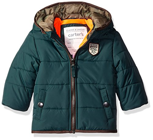 Carter's Boys' Infant Classic Heavyweight Bubble Jacket, Hunter Green, 18 Months