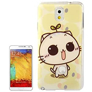 CC Cat Pattern Plastic Case for Samsung Galaxy Note 3 N9000