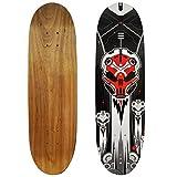 Rude Boyz 28 Inch Wooden Graphic Printed Display Skateboard Deck - Robot Design