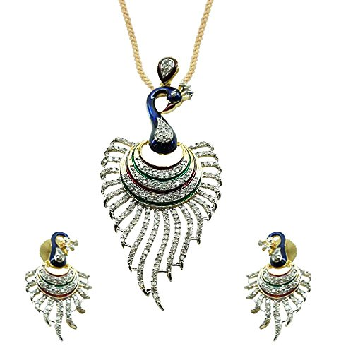 Sheetal Jewellery Multi-Colour Brass & Alloy Pendant Set For Women