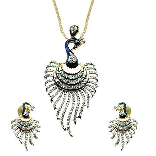 Sheetal Jewellery Multi-Colour Brass & Alloy Pendant Set For Women
