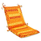 Pillow Perfect Outdoor Grillin Flame Squared Corners Chair Cushion