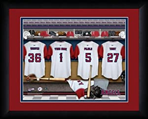 MLB Personalized Locker Room Print Black Frame Customized Los Angeles Angels by You