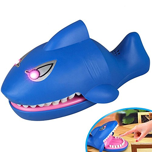 Shark Attack Fun Snapping Game,Family Fun Game Toy (BLUE)
