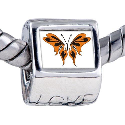 Pugster Bead Orange Black Butterfly Beads Fits Pandora Bracelet
