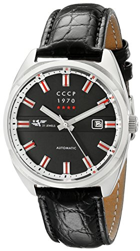 CCCP Unisex CP-7024-01 Chistopol Analog Display Japanese Automatic Black Watch