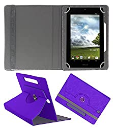 Acm Designer Rotating Case For Asus Memo Pad Me172v Stand Cover Purple