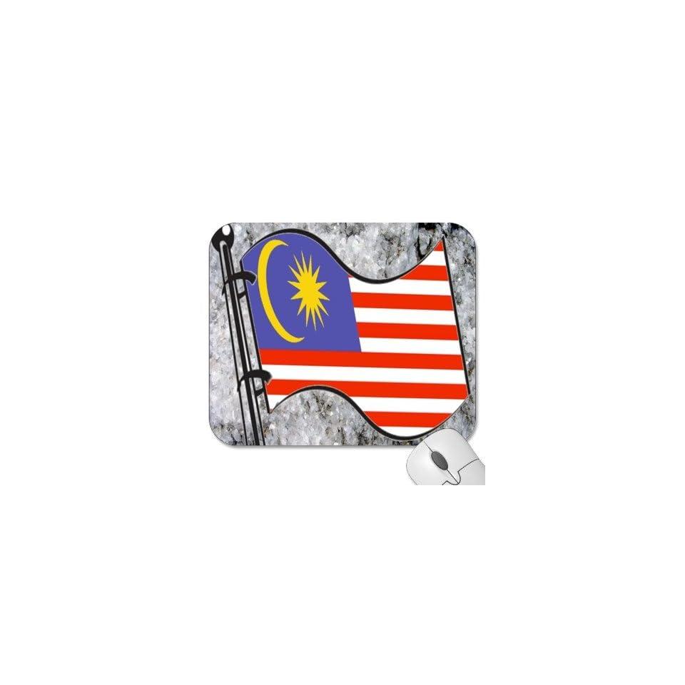 Mousepad   9.25 x 7.75 Designer Mouse Pads   Design Flag   Malaysia (MPFG 119)