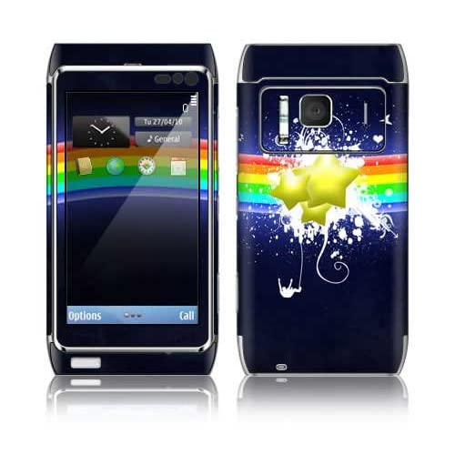 Rainbow Stars Decorative Skin Cover Decal Sticker for Nokia N8 cell phone