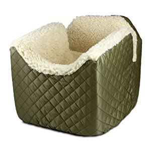 Snoozer 80111 Medium Lookout I Pet Car Seat, Khaki
