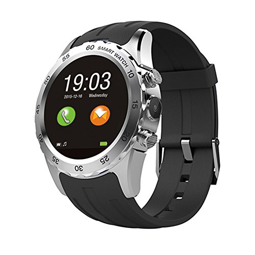 Bluetooth Watch, Otium® S2 Smart Watch Wristwatch Phone Mate Round Display with Camera Heart Rating Daylight Saving Backlight LED NFC for Android IOS