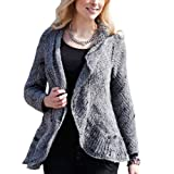Traidcraft Grey Alpaca Cardigan