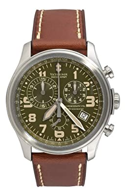 Victorinox Swiss Army Men's 241287 Infantry Vintage Stainless Steel Watch with Leather Band