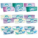 Angel Soft 165 Piece Facial Tissue, White, 18 Count