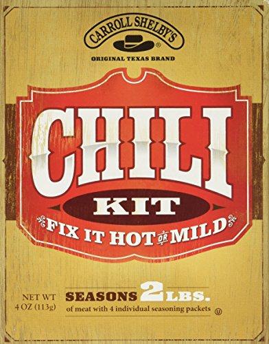 CARROLL SHELBY'S Original Texas Brand Fix It Hot or Mild Chili Kit, 4 oz (Carrolls Chili Mix compare prices)