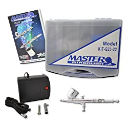 General Purpose Airbrush System, Precision Dual-action Gravity Feed Airbrush Set with Mini Air Compressor. Great for Cake Decorating, Arts & Crafts, Temp Tattoos, Nails, Etc. Now Includes (FREE) How to Airbrush Training Book to Get You Started.