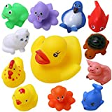 Wish Key Baby Bath Toys-Set Of 12 For Boys Girls Kids Baby