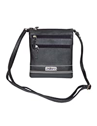 Leather Women's Crossbody Sling Bag (Black) - B01DHYP0LO