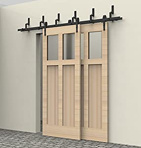 Interior Sliding Door Partition Wood Door Hardware Kit