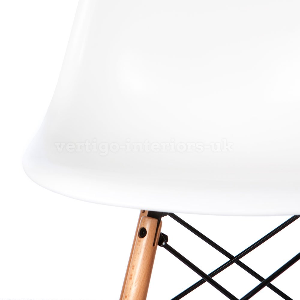 2 X * Higher Quality * Eames Style DSW Dining Side Chair White