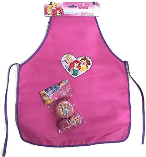 Disney Princess Kitchen Apron Plus 24 Baking Cups and Toppers (Hostess Cupcakes Maker compare prices)
