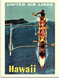 Hawaii, United Airlines Travel Poster, 1950s (30x40cm Art Print)