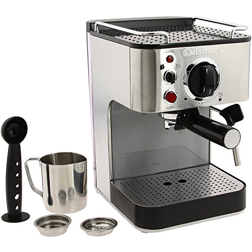Em Press Coffee Maker Stainless Steel : Cuisinart EM-100 1000-Watt 15-Bar Espresso Maker, Stainless Steel (Certified Refurbished) from ...
