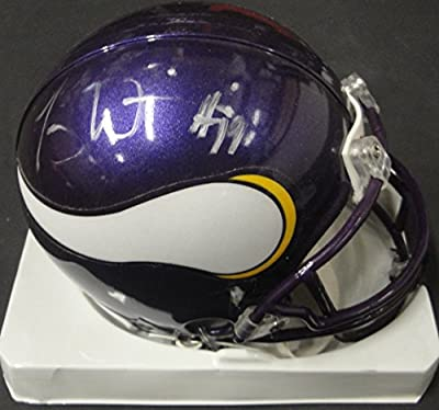 Troy Williamson Hand Signed Autographed Mini Helmet Minnesota Vikings