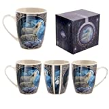 Lisa Parker New Design Howling Wolf Bone China Mug