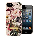 Ted Baker London iPhone 5 Case iPhone 5S Snap On Hard Shell Back Cover for iPhone 5S / 5 with Floral Flowery Print - One Year Warranty - Susu