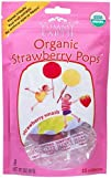 Organic Strawberry Smash Pops 15 lollipops by Yummy Earth 1 Pack