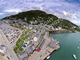 STUNNING RARE AERIAL PHOTOGRAPH OF BARMOUTH WALES (3)