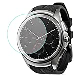 LG Watch Urbane 2nd Edition 強化ガラスフィルム【Qosea】LG Urbane 2nd Edition LG-W200 液晶保護フィルム 日本AGC旭硝子社 国産ガラス 硬度9H 指紋防止 飛散防止 超薄0.3mm 2.5D ラウンドエッジ加工 (LG-W200, 強化ガラスフィルム)